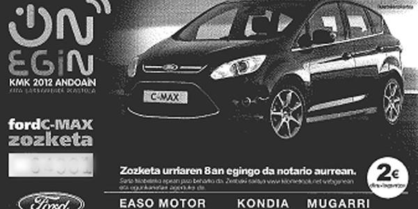 Kilometroak-ek Ford C-MAX zozketatu