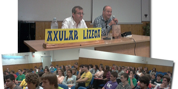Jordi Badia y Luisjo Gómez con nuestros alumnos