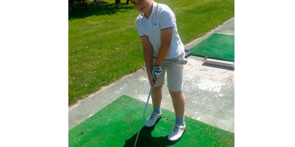 Markel Olasagasti en los campeonatos de España de Golf