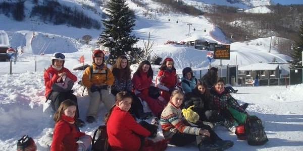 Esquiando en Gourette