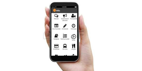 Argazkia app-a sakelako telefono batean