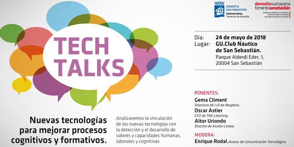 Tech Talks ekitaldiaren kartela