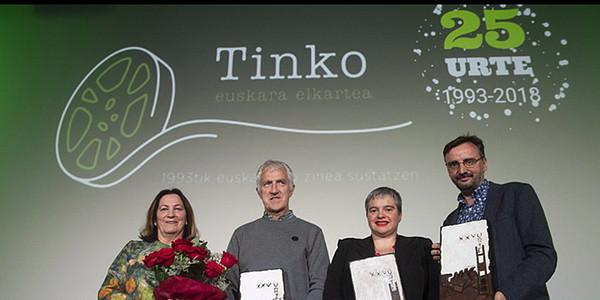 Reconocimiento de Tinko Euskara Elkartea a Joxe Ramon Iturain
