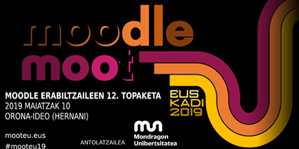 MoodleMoot Euskadi 2019 ekitaldiaren kartela
