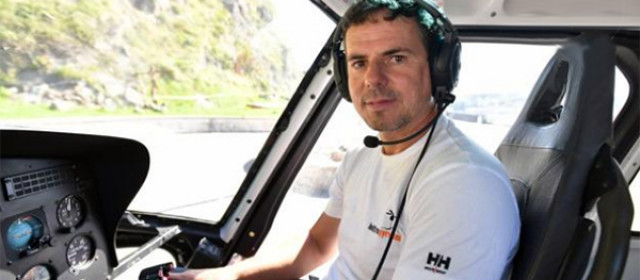 Haritz Galarraga bere helikopteroan