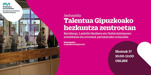 Jornada online sobre el talento en los centrose educativos de Gipuzkoa