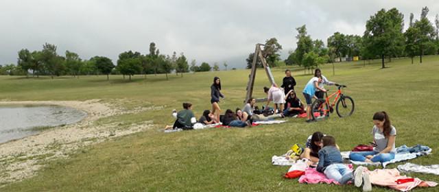 Los alumnos en Ulibarri-Ganboa